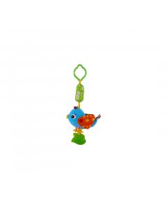 Jucarie zornaitoare din plus, Campanula Bird, 33 cm, Blue, Lorelli