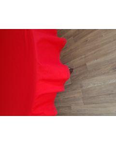Fata de masa rosu cu dantela 140 cm