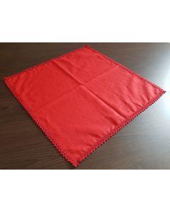 Set 2 servetele  cu dantela rosu 45x45 cm