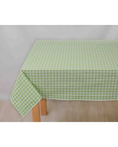Fata de masa carouri alb verde 100x140 cm