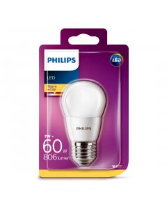 Bec Philips Led P45 60W E27 2700K MAT