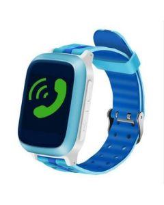 Ceas telefon cu GPS pentru copii Logic, Lacalizare, Monitorizare, Pedometru, Buton SOS, Albastru