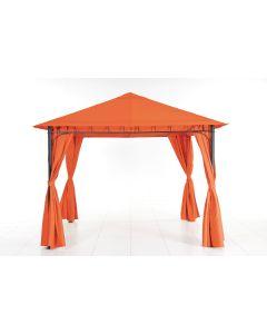 Pavilion metalic 3x3m, portocaliu