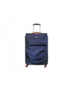 Troler Ultralight 78 cm, 4 roti, albastru, Carrefour