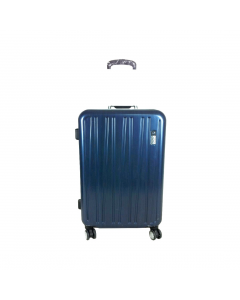 Troler ABS 77 cm, 4 roti, albastru, Carrefour