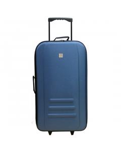 Troler Eva 71 cm, 2 roti, albastru, Carrefour