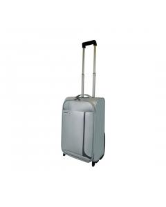 Troler PVC 50 cm, 2 roti, argintiu, Carrefour