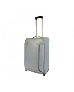 Troler PVC 61 cm, 2 roti, argintiu, Carrefour