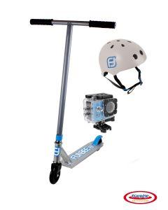 "Trotineta ""Stunt Scooter"" + casca + camera"