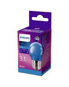 Bec Philips Led P45 LOR E27 ALBASTRU