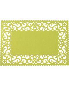 Placemat 43x28 cm verde