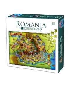 Puzzle 240 pcs Romania, D-toys