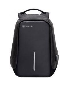 "Rucsac laptop Tellur antifurt cu port USB, 15"", Negru"