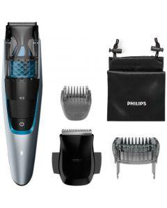 Aparat de tuns barba BT7210/15 Philips, Lame lavabile, Autonomie: 75 min., Timp de incarcare: 1 ora, 20 ghidaje de taiere, Negru/albastru, Taxa verde 1 leu