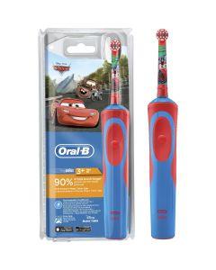 Periuta de dinti electrica pentru copii Oral-B Vitality Cars, Reincarcabila, 1 program, 1 capat, Rosu/Albastru