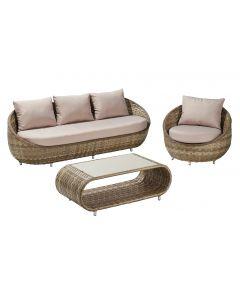 Set mobilier gradina Sumatra, 4 piese, ratan