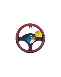 Husa volan Club, marimea M, 37-39 cm, negru cu rosu, Lampa
