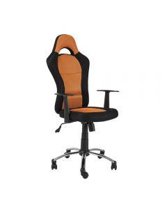 Scaun directorial SL Q039 negru-portocaliu