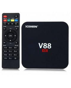 Mini PC Android TV Box SCISHION V88 + Telecomanda, Rockchip 3229 Quad Core, 1GB RAM, 8GB ROM