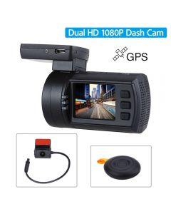 Camera Video Auto Mini 0906 Dual Camera, senzori Sony IMX291+Sony IMX322 , 1080P, GPS, Telecomanda Wireless, Super Capacitor Cod produs: Mini 0906