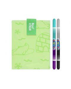 Boc n Roll Paint Polar Ambalaj reutilizabil pentru sandwich + Set 2 Carioci