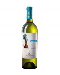 Vin alb sec Hermeziu Muscat Ottonel 12,8% - 750 ml