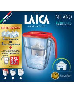PROMO: 4 cartuse + Cana filtranta de apa Laica BIG Milano, rosie