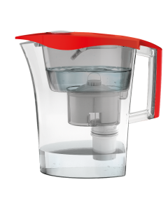 Cana filtranta de apa Laica Germ Stop Predator, filtrare bacterii, 3 litri, rosu,