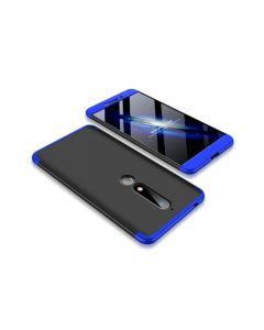 Husa 360 Grade Upzz Protection Nokia 6.1 2018 Albastru-negru