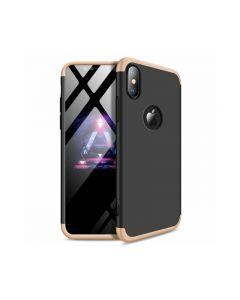 Husa 360 Grade Upzz Protection iPhone Xs Max Gold-negru