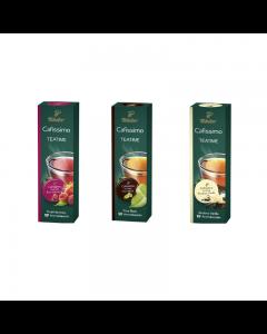 Pachet Promo Cafissimo Tea Pure Black, Rooibos Vanilla, Fruit Harmony, 30 capsule, 75 g