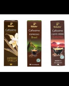 Pachet promo capsule cafea Cafissimo Vanilla, Colombia, Brasil, 30 capsule, 210 grame