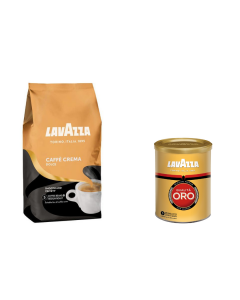 Pachet promo Lavazza Caffe Crema Dolce + Qualita Oro, 1250 g