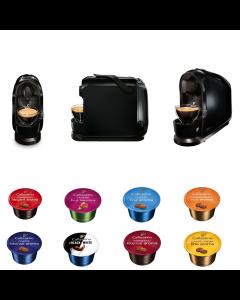 Pachet Promo Aparat Cafissimo Pure Black + capsule cafea Cafissimo, 80 capsule