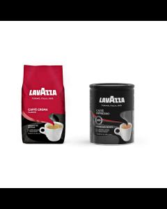 Pachet promo Lavazza Caffe Crema Classico + Caffe Espresso, 1250 g