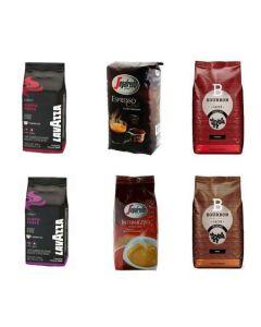 Set 6xCafea Boabe,Lavazza,Segafredo,Bourbon,diverse sortimente
