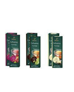 Pachet Promo Cafissimo Tea Pure Black, Rooibos Vanilla, Fruit Harmony, 60 capsule, 150 g
