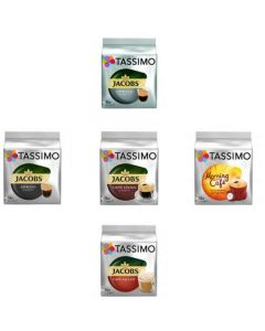 Set 5xCapsule Jacobs Tassimo diverse sortimente, 80 capsule