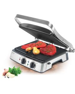 Grill electric ECG KG 200, 2000 W, 3 tipuri de gatire, placi detasabile
