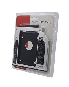 Rack HDD Caddy SATA Nelbo HDD/SSD pentru montarea unui al 2-lea HDD / SSD in laptop 9.5mm RETAIL