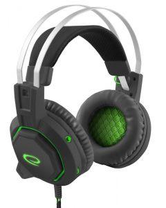 Casti Advanced Gaming ICEMAN EGH7000, 7.1 sunet surround, perne soft cu microfon si volum control, USB