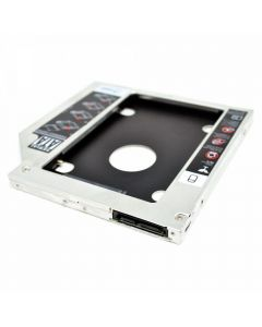 Rack HDD  Caddy SATA III Nelbo HDD/SSD pentru montarea unui al 2-lea HDD / SSD in laptop 9.5mm RETAIL