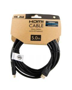 Cablu HDMI - HDMI High Speed cu Ethernet (v1.4), 3D, HQ, negru, 5m