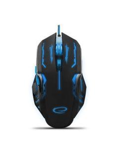 Mouse gaming cu fir, pentru jucatori incepatori si experimentati, APACHE, 7 butoane Albastru