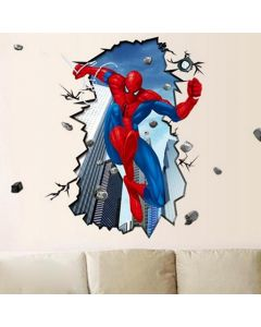 Sticker perete Spiderman 3D 80 x 96 cm - Disney Marvel