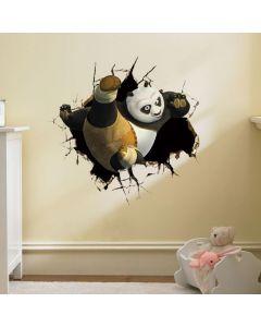 Sticker perete Kung Fu Panda 3D 50 x 50 cm