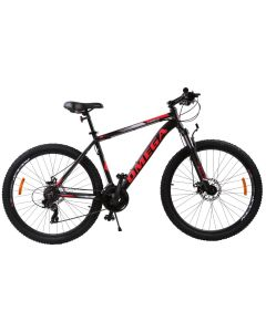 "Bicicleta mountainbike Omega Thomas 29"", cadru 49cm, negru/rosu 2019"