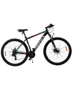 """Bicicleta mountainbike Omega Thomas 27.5"""", cadru 46cm, negru/portocaliu/alb 2019"""