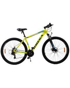 """Bicicleta mountainbike Omega Thomas 29"""", cadru 49cm, galben 2019"""