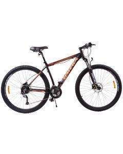 "Bicicleta mountainbike Omega Bettridge 29"", cadru 49 cm, negru/portocaliu2019"